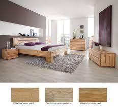 Schlafzimmer Losone Eiche Massivholzbett Kommode Lowboard Nako