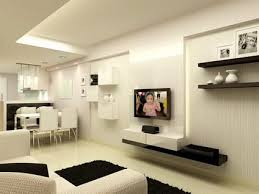 Small Picture White Minimalist House Interior Design with Small Modern Kitchen