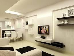 Small Picture White Minimalist House Interior Design with Small Modern Kitchen