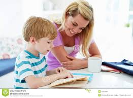 mother helping son homework in kitchen stock image image royalty stock photo mother helping son