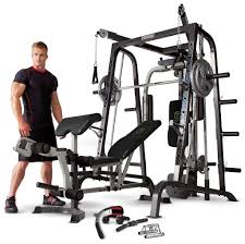 Marcy Md 9010g Home Gym Smith Machine With Weight Bench