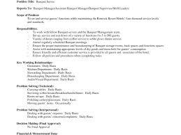 Download Banquet Server Resume Haadyaooverbayresort Com