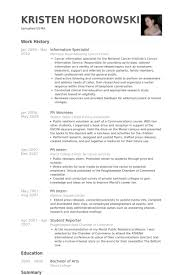 Information Specialist Resume Samples - Visualcv Resume Samples Database