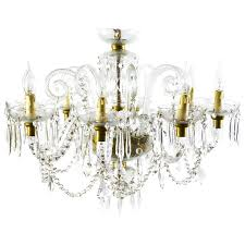 superb vintage venetian eight light crystal chandelier for