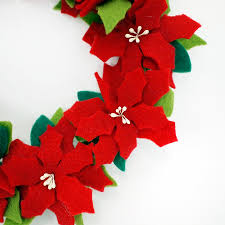 a present gift for the gts felt lease s f160984 poinsettia decoration ornament living bedroom decoration room is new