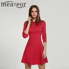 Meaneor Brand Ladies Women Vestido Casual Elegant High Waist