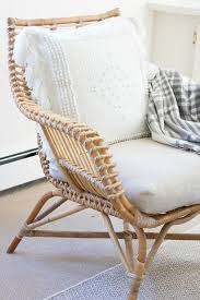 venice rattan chair montecito pillow cover via serena lily image via driven by decor