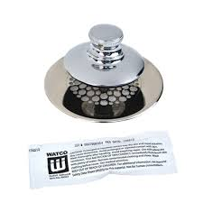 watco universal nufit push pull bathtub stopper grid strainer and silicone