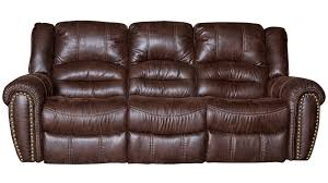 two tone microfiber reclining sofa leather look ashley