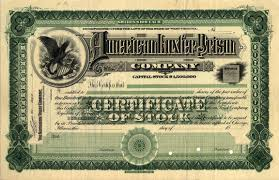 Printable Stock Certificates American Luxfer Prism Company Sample Stock Certificate Glassian 24