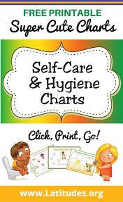 Hand Washing Chart Free Printable Free Printable Self Care Hygiene Charts For Kids Charts