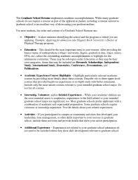 Grad School Resume Objective graduate school resume objective Savebtsaco 1