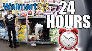 hour challenge in walmart all nighter in walmart