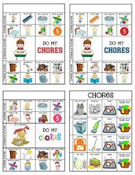 Chore Charts Responsibility Chore Chart Kids Toddler