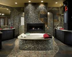 how to use river rock tile in bathroom design 19 great ideas