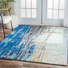 incredible yellow area rug 5 8 nuloom modern abstract vintage blue area rug 5 x