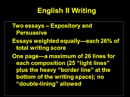 essays and short answer ppt video online  english ii writing two essays expository and persuasive