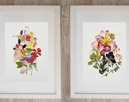 framed set of 2 botanical print dry flower art botanical art framed botanical print set pressed flower original floral print framed wall art on botanical wall art set of 2 with framed wall art set etsy