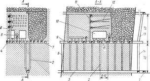 Промышленность производство Системы подземной разработки с  Рисунок 1 Система подэтажного обрушения с отбойкой руды глубокими скважинами на горизонтальное компенсационное пространство