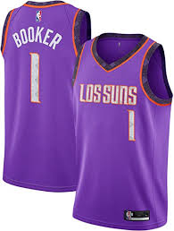 Sport the purple and orange and show love and support for your favourite nba squad with official phoenix suns jerseys and gear from nike. Amazon Com Outerstuff Devin Booker Phoenix Suns 1 Purple Youth Alternate Swingman Jersey Small 8 Clothing