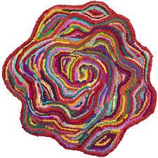 chindi flower shaped rug