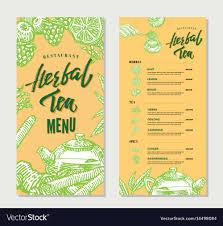 Vintage Herbal Tea Restaurant Menu Template