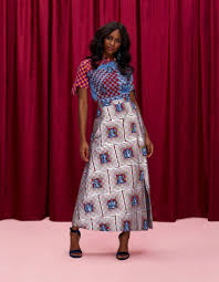 Vlisco Clothing Designs Statement Skirt African Fashion Lookbook African Styles