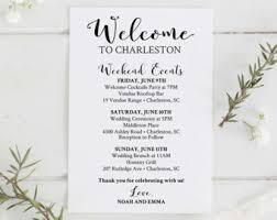 wedding itinerary etsy Wedding Week Itinerary Template Wedding Week Itinerary Template #29 wedding week itinerary template design