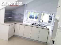 pure white melamine kitchen cabinet design residential house 02
