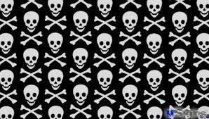 skull crossbones pattern decal style skin fits sony ps vita