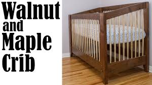 making an adjustable height walnut and maple baby crib  youtube