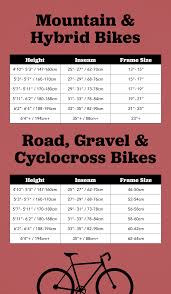 Bicycle Frame Size Chart How To Determine The Best Bike Frame Size For You Moosejaw