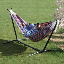c9poly 1 double polyester hammock with stand