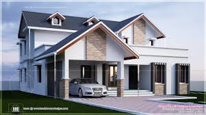 Modern 4 Bedroom House Plans Modern 4 Bedroom Villa Exterior Kerala Home Design And Floor Plans