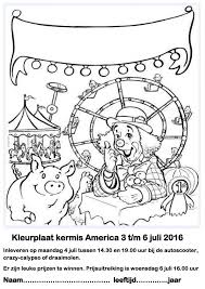 Kleurplaat Kermis America 3 Tm 6 Juli 2016