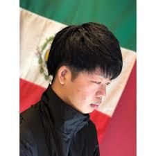 韓国系マッシュ 少し束感を出して 須磨 板宿 メンズ専門美容院