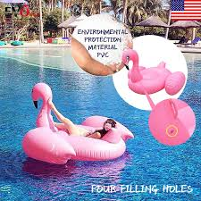 75inch Giant Swan Inflatable Flamingo Ride On Swim Pool Water Float