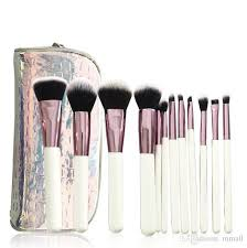 cosmetics crystal makeup brush set with zipper bag white rose gold glitter sparkle case bag foundation brush makeup box from mmall 8 94 dhgate