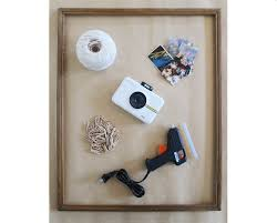 here is what you will need to make your own polaroid photo frame