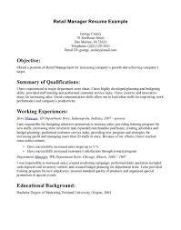 Sample Resume For Aldi Retail Assistant Striking Sample Resume Retail Sales Manager Samples Qualifications 28