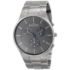 skagen men s watches shop the best deals for 2017 skagen men s skw6077 balder chronograph titanium watch