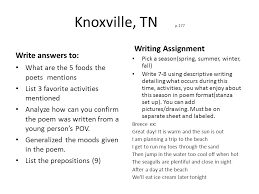 speaker and word choice in poetry ppt knoxville tn p 177 writing assignment write answers to