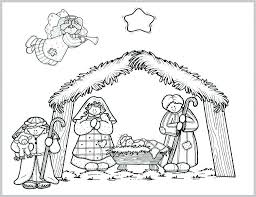Christmas Nativity Coloring Pages Printable With Precious Moments