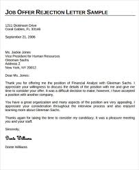 Job Offer Rejection Letter Harfiah Jobs