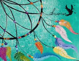 dreamcatcher step by step acrylic painting lesson on canvas for beginners tutorial the art sherpa
