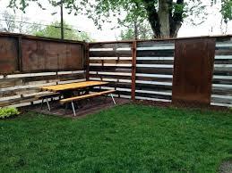 corrugated metal fence tin roof fence medium size of metal panels wood framed corrugated metal fence