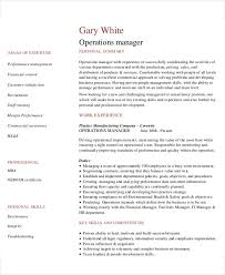 Assistant Operation Manager Resume New 48 Manager Resumes In PDF Free Premium Templates