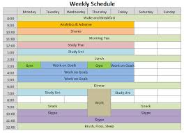 Week Hour Schedule Template Download Weekly Schedule Template Excel Daily Planner Template