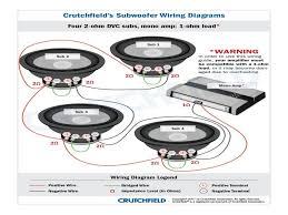 3 subwoofer wiring diagram crutchfield subwoofer wiring diagram dual 2 ohm sub wiring at Dual Voice Coil Subwoofer Wiring Diagram