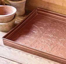 Decorative Boot Tray China Decorative Galvanized Metal Copper Door Boot Shoe Tray China 74
